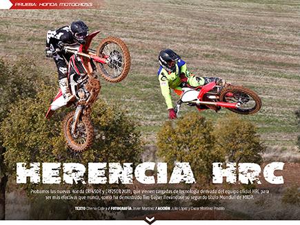 Apertura reportaje en revista EnduroPro